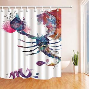 Image Is Loading Ink Painting Scorpio Horoscope Zodiac Constellation Fabric Shower