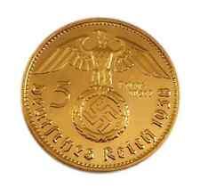 - 5 Reichsmark 1937 mit HK - 24 Karat vergoldet -