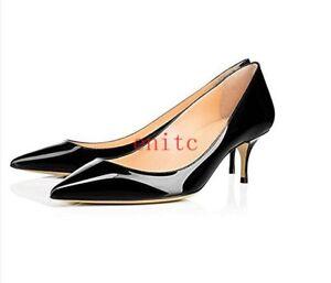 pompe donne delle verniciate delle del delle di 6cm gattino eleganti scarpe cuoio partito signora del del Pattini della partito di qAwFZaWt