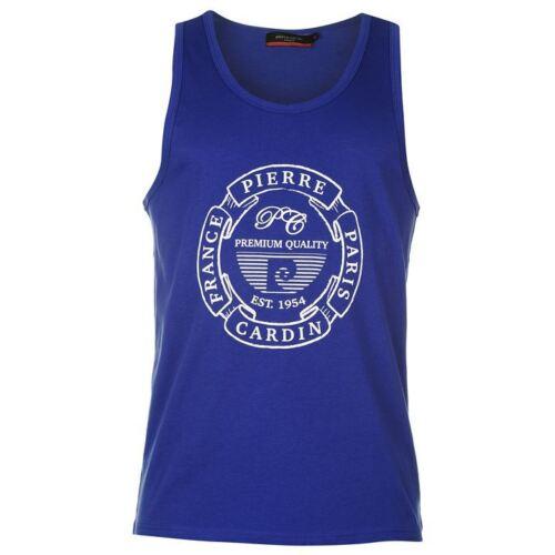 New Mens Pierre Cardin Lightweight Sleeveless Print Vest Top Size S-XXL 14 COLOR