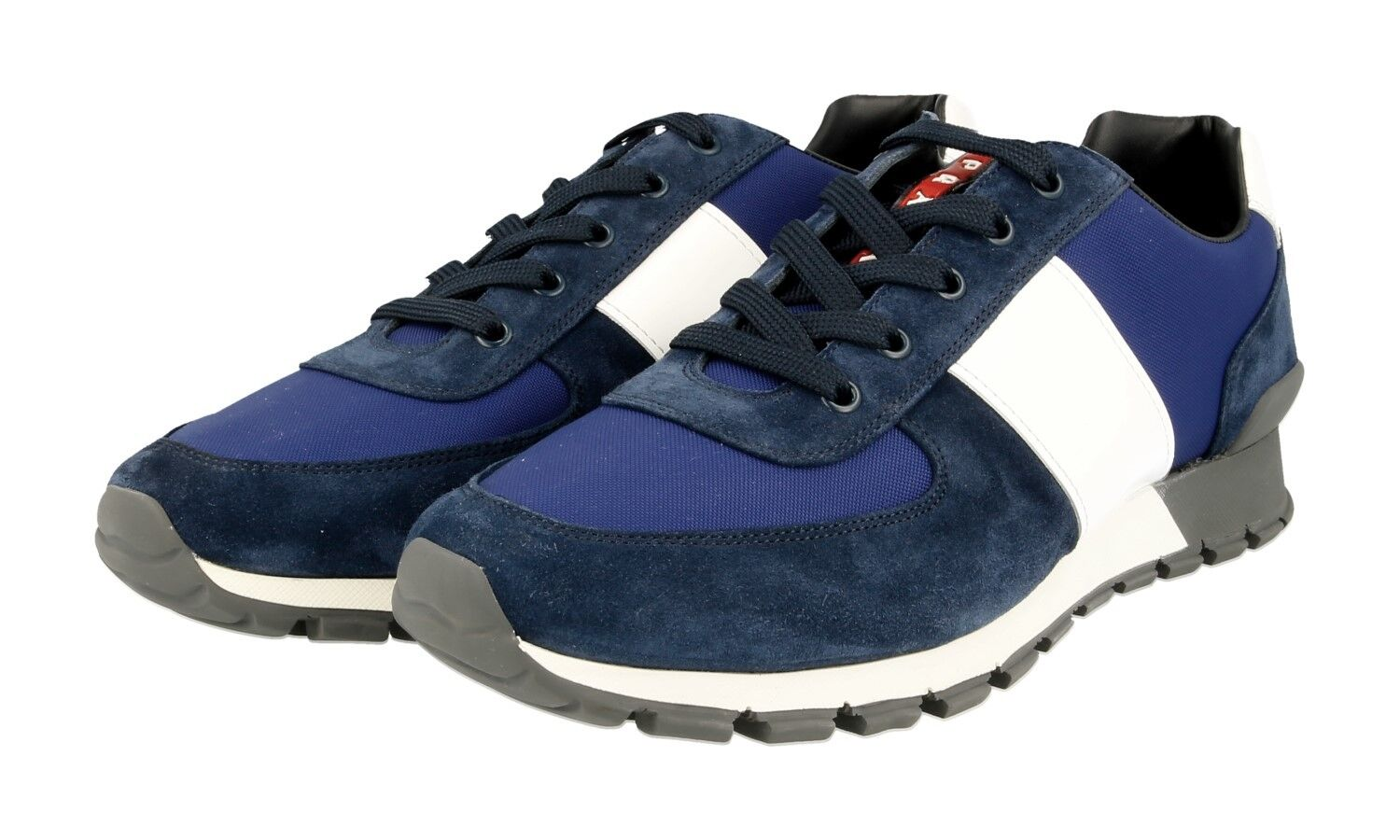 AUTH PRADA MATCHRACE SNEAKERS SHOES 4E2718 blueE SUEDE NEW US 10