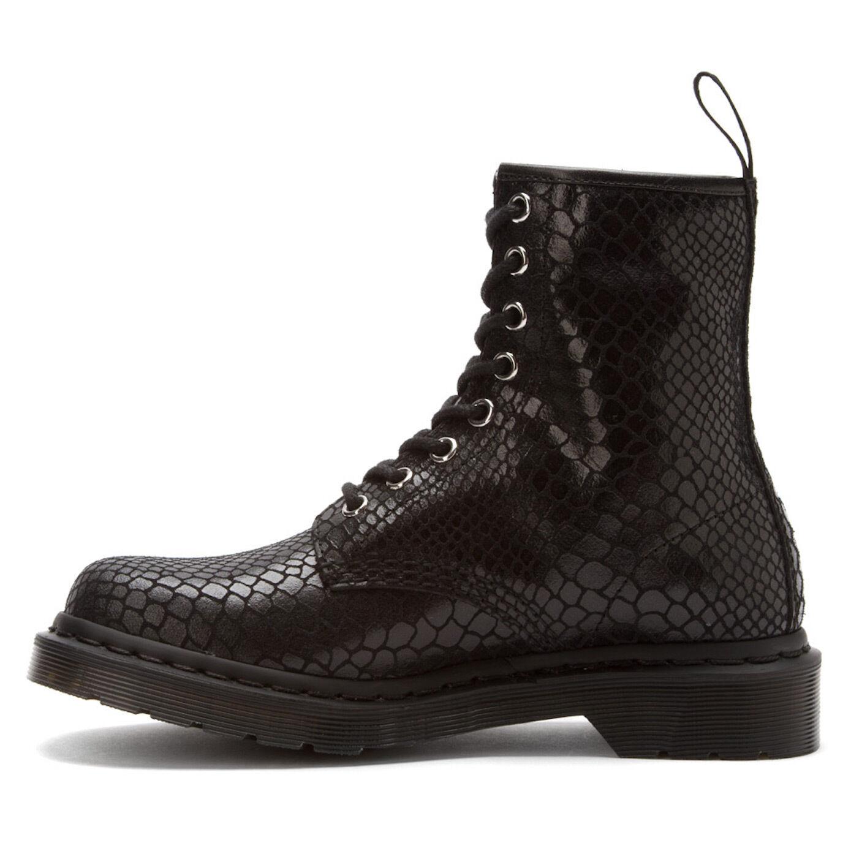 Doc Dr. Martens 1460 Black Snake Pattern Leather Ankle Boots Sz 11 Women's