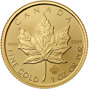 ON SALE 2017 1 oz Canadian Gold Maple Leaf Coin BU