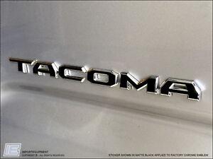 2016 toyota tacoma emblem overlay stickers decals ebay. Black Bedroom Furniture Sets. Home Design Ideas