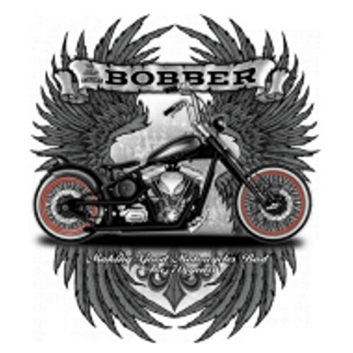 /& Old School Motif Model Bobber Hoodie Olive HD V Twin Biker Chopper