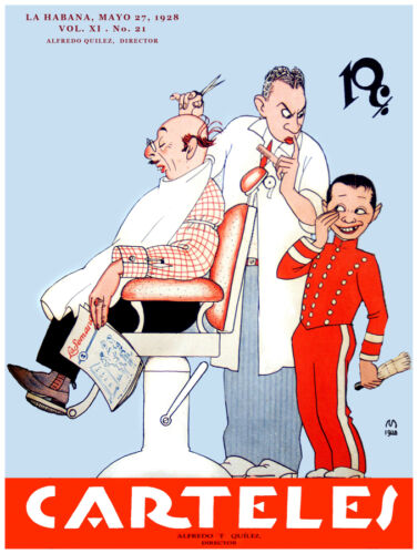 258.Art Decoration POSTER.Graphics to decorate home office.Carteles Barber Shop.