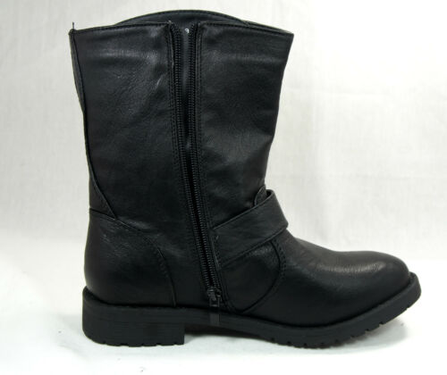 NEW Women/'s Fashion Shoes Mid Calf Military Combat Boots Studded Black Brown