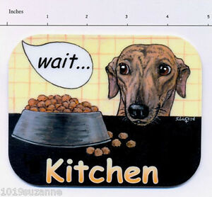 NEW-ORIGINAL-GREYHOUND-DOG-PAINTING-LAMINATED-KITCHEN-DOOR-SIGN-SUZANNE-LE-GOOD