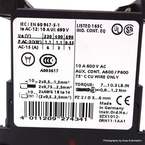 Contactor Siemens 3RH1140-1BB40 1.1kW 24VDC 4NO 3RH11401BB40