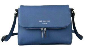 Blue-Crossbody-Shoulder-Bag-Red-Cuckoo-Faux-Leather-Across-Cross-Body-Handbag