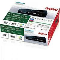 Sanyo Dvd Recorder Vcr Combo Vhs Video With Remote Cd Cd-r/rw Ntsc Hdmi 1080p Hd