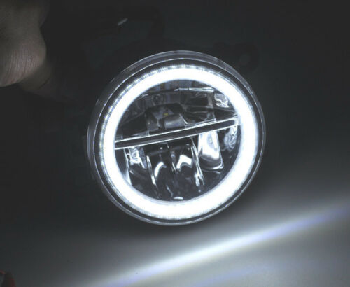 Halo Direct Fit 15W LED Projector Fog Light For Acura Honda Ford Nissan Infiniti