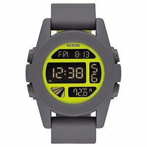 Nixon-A197147-Unit-Grey-Yellow-Unisex-Digital-Watch