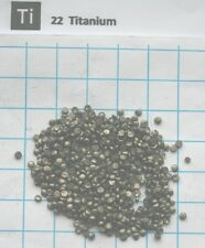 Titan metall Titanium metal microdisks 10 gram 99,9% pure element 22 sample