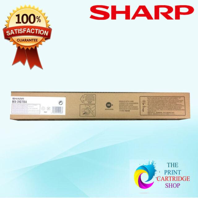 New & Genuine Sharp MX31GTBA Black Toner Cartridge MX 2301N MX 2600N MX 3100