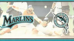 Image Is Loading Florida Marlins Wallpaper Border Sport Fan Baseball Team