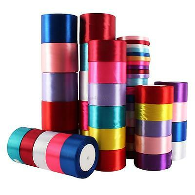 New 1 Roll Solid Wedding Party Satin 25yds Craft Satin Ribbon 10mm 20mm 50mm Hot