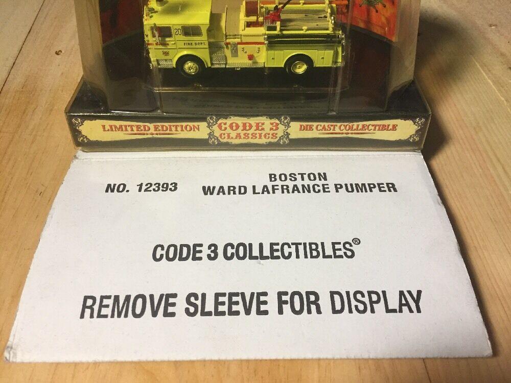 Code 3 Boston Ward La France Pumper  12393