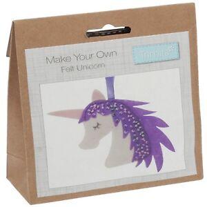 Make-Your-Own-Feltro-Unicorn-Kit-Appeso-Decorazione-Di-Natale-Rivenditore-Regno-Unito