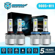9005 + H11 Total 4000W 600000LM CREE LED Headlight Kit High Low Beam Light Bulbs