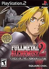 PS2 Fullmetal Alchemist 2 Curse of the Crimson Elixir + BONUS DVD New Sealed