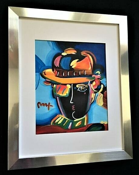 Peter Max Signed Hand Made Acrylic Painting of the Zero Man. No Reserve auction.