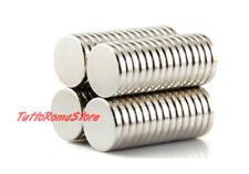 ✔ 100 MAGNETI SUPER CALAMITE TONDE POTENTI 10x1 mm NEODIMIO CALAMITA MAGNETE per