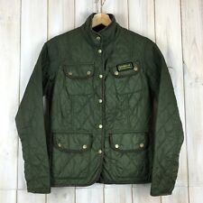 BARBOUR vintage International QUILT TRAPUNTATO Women's Donna Giacca Cappotto UK 10