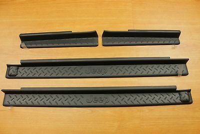 Door Sill Guards for 2007-2016 Jeep Wrangler Black Mopar 82210106AB
