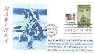 Lt-colonel-Alfred-Cunningham-Usmc-Primo-Marino-Pilota-Ritratto-Marchio-Giorno