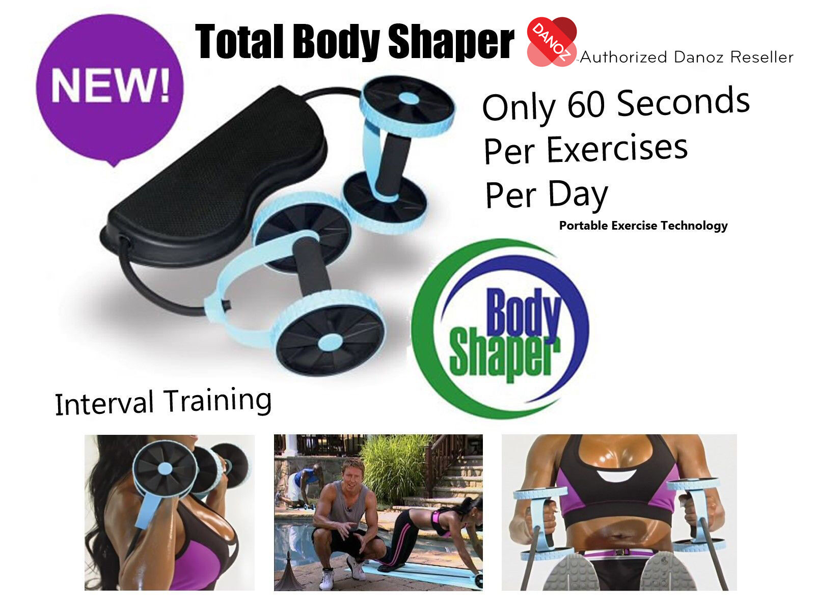 Danoz Total Body Shaper + WARRANTY  PORTABLE  AUTHENTIC  Only 60 Seconds Per Day