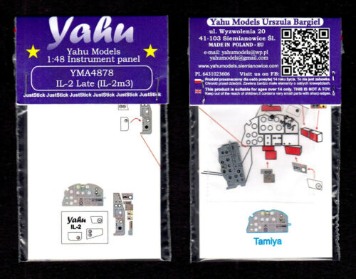 1:48 yma4878// YAHU Models Instrument panel Iljuschin Il-2m3