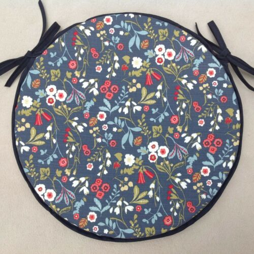 """ROUND BISTRO STYLE CHAIR SEAT PADS, KITCHEN, DINING, PATIO SIZE 14/"""" 35CMS"""