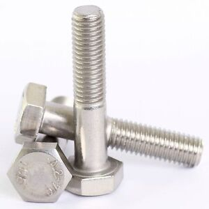 DIN 931 A2 STAINLESS /'PART/' THREADED BOLT SCREW HEXAGON HEX HEAD STEEL M6 6mm