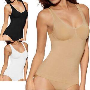 Ladies Seamless Bodyshaper Vest Shapewear Control Slimming Cami Vest size S-3XL