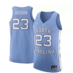 the latest b7898 cbcb6 Details about Nike Air Jordan UNC Tar Heels Michael Jordan Jersey DF Blue  White Size Large L
