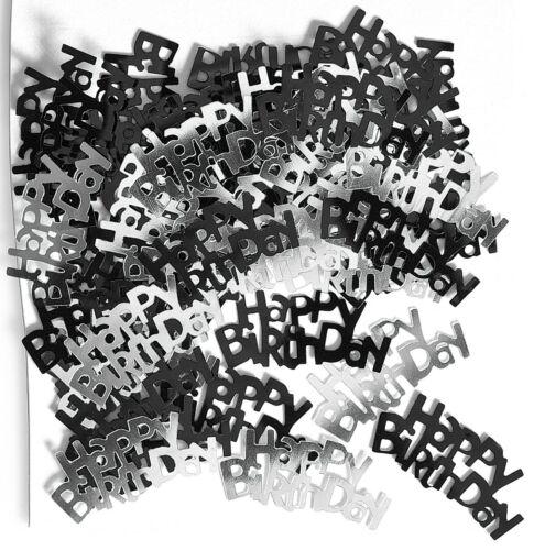 Glitz Noir Table Confetti-Joyeux anniversaire et âges-Party Décoration