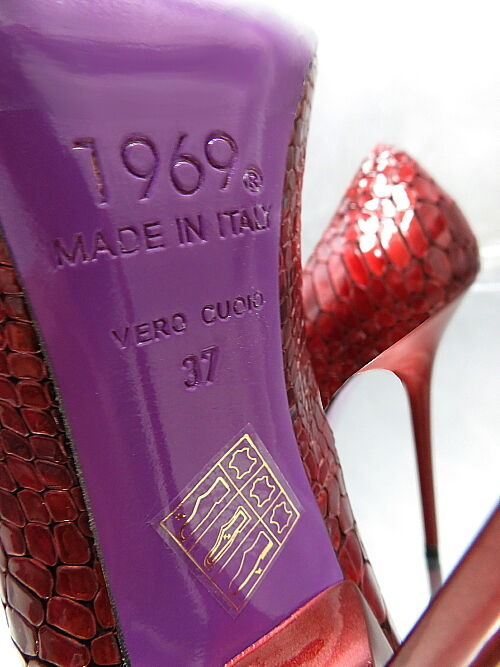 1969 Unique Farbe Farbe Unique Real Leder MADE IN ITALY Sexy High Heels Pumps Z39 Leder 41 42eacb