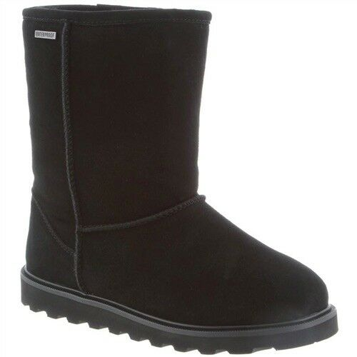 Bearpaw Payton II Black Waterproof Suede Shearling Lined Winter Pull-On Boot