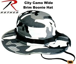 49e7dd4e09f Image is loading City-Metro-Camouflage-Military-Police-Tactical-Wide-Brim-