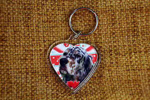 English-Setter-Gift-Keyring-Dog-Key-Ring-heart-Birthday-Gift-Valentine-Gift