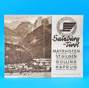 Salisburgo-e-Tyrol-Dr-Degener-Viaggi-Del-1935-Mayrhofen-Golling-Kaprun-St