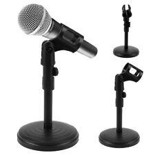 DKS 1 Desktop Microphone Desk Stand Adjustable Height Weighted Base 3 Black