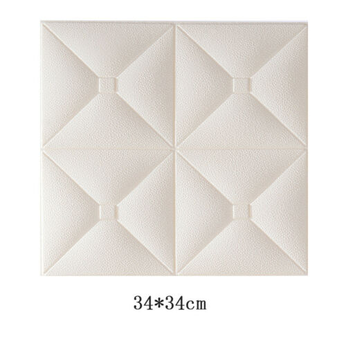 3D PE Foam Embossed Self Adhesive Wall Stickers Brick Decals Home Decor Supplies