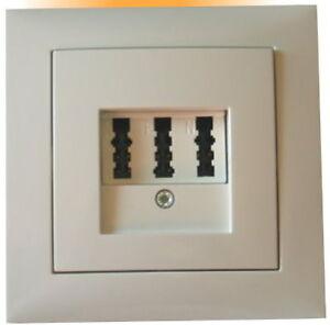 tae nfn telefon dose mit berker s 1 abd polarwei gl nzend ebay. Black Bedroom Furniture Sets. Home Design Ideas