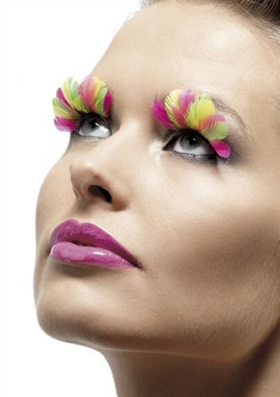 Multi-Colored Eyelashes New Adult Halloween Cristmas Womens Sexy Mukeup by Fever