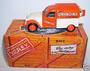 NOREV-HACHETTE-CITROEN-2CV-AZU-1955-BUVEZ-ORANGINA-IN-BOX