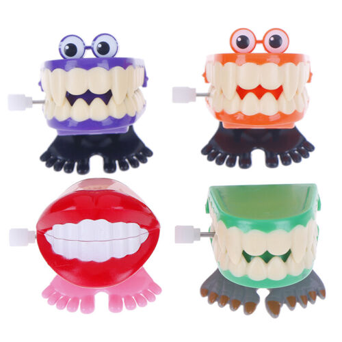 Kid Creative Funny Chattering Jumping Teeth Clockwork Toy Children Gifts/_vi