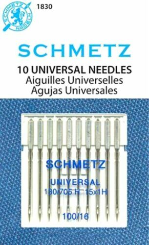 Schmetz Universal Sewing Machine Needles Size 100//16~ 10PK~Part# 1830~Free Ship