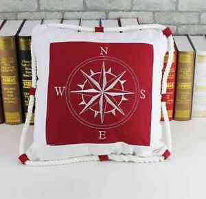 Details About Modern Canvas Rope Nautical Boat Anchor Seafarer Decor Sofa Pillow Cushion Cover